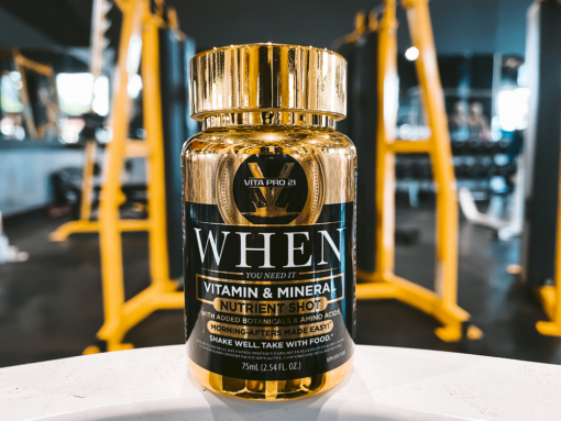 """vitapro 21 """"when"""" bottle in the gym"""